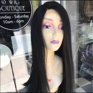 Long Black SidePart Lacefront Wig 2020 lace wig